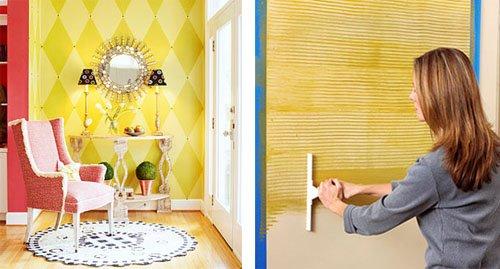 para cubrir una pared empapelada u antes de comenzar a trabajar tendrs que comprobar si el papel ser capaz de aguantar la capa de pintura