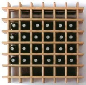 Botellero de madera bricolaje casa - Muebles para poner botellas de vino ...