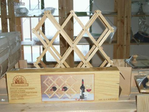 Botellero de madera bricolaje casa - Como hacer un botellero ...