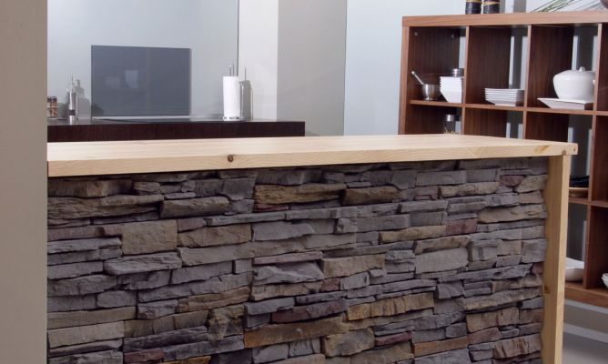 Revestimiento de madera de altura comedor - Barras para cocinas ...