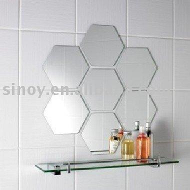 Realizar espejo hexagonal bricolaje casa for Espejo hexagonal ikea