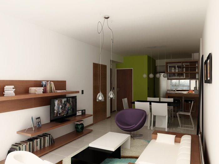 Dise o de un monoambiente bricolaje casa for Decoracion de monoambientes de 30m2