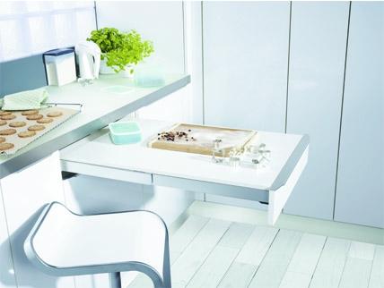 Cocina bricolaje casa - Plan de travail avec table coulissante ...